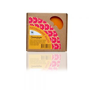 Грейпфрут натурален сапун с жълта глина и бета-каротин 120гр