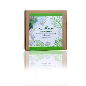 Натурален солен сапун с етерично масло от смерч (ела) - 80гр