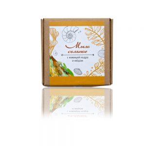 Натурален солен сапун с кедър и мед - 80гр