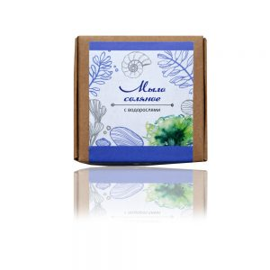 Натурален солен сапун с водорасли - 80гр