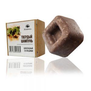 Натурален твърд шампоан Шоколад -хидратиращ, за суха коса - 50гр