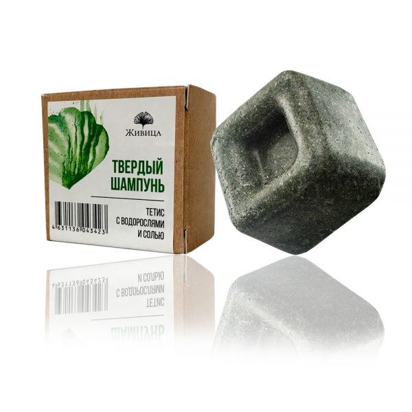 Натурален твърд шампоан Тетис - за бързо омазняващи се коси - 50гр