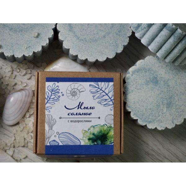 Натурален солен сапун с водорасли
